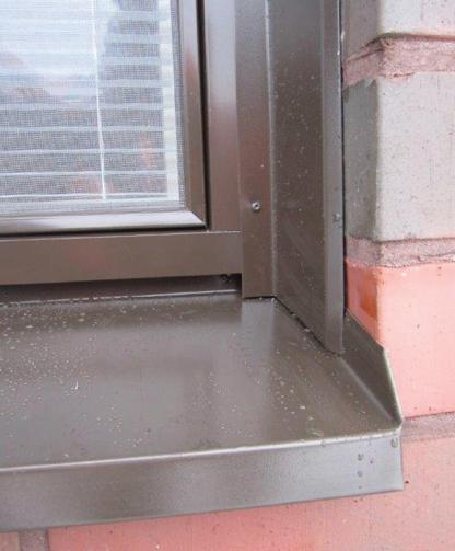 Oikein asennettu ikkunapelti, ikkunapelti smyygi peltilista